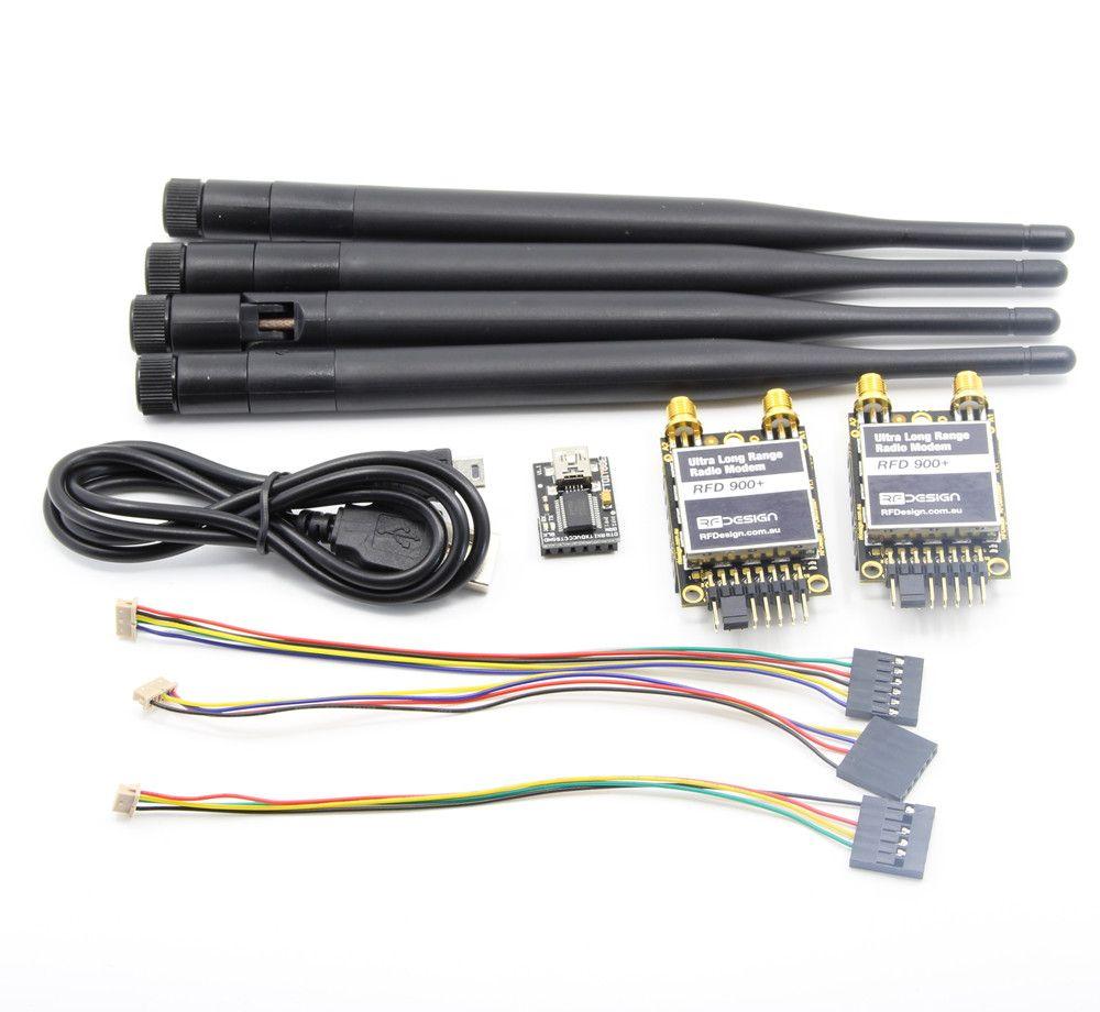 Over 40km RFD 900 Plus 900MHz Ultra Long Range Radio Data Modem with Antenna for APM PIX Flight Controller