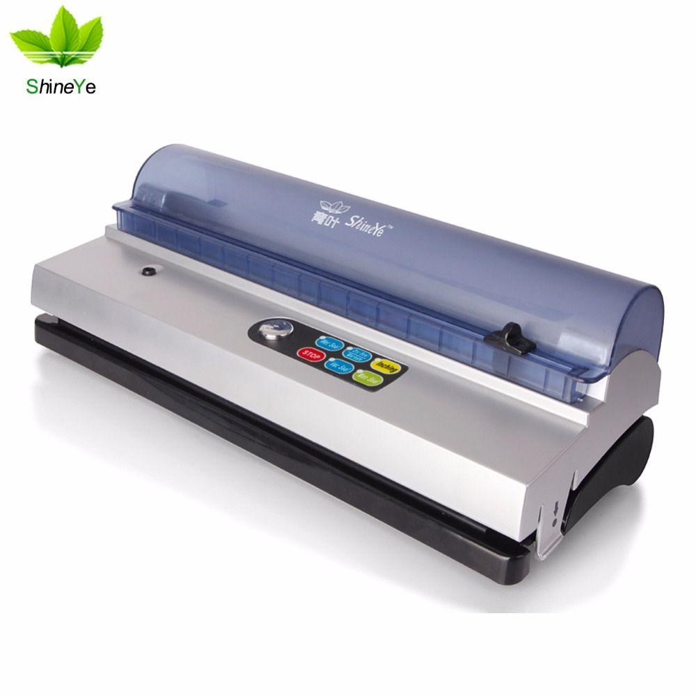 ShineYe 220 V/110 V Alimentaire Des Ménages Vide Scellant Machine D'emballage Sous Vide Machine Film Contenant Alimentaire Sealer plus Comprennent sacs Kit