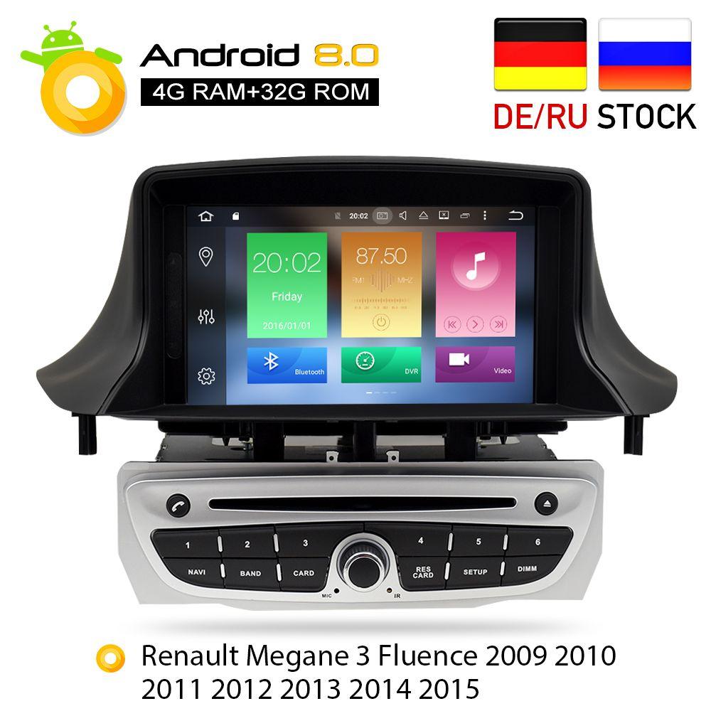 Android 8.0 Auto Stereo DVD Player GPS Glonass Navigation für Renault Megane 3 Fluence 4 gb RAM Video Multimedia Radio steuergerät