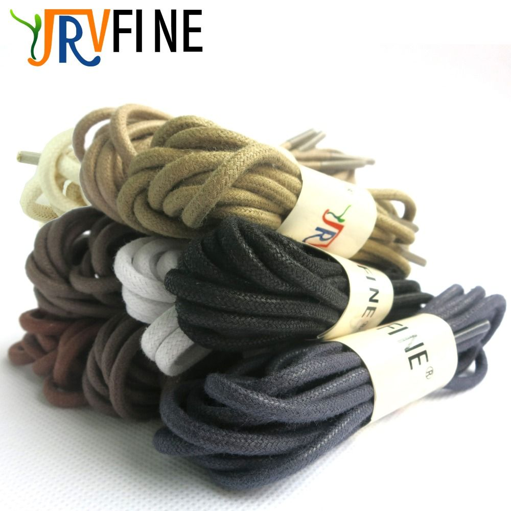 YJRVFINE 1 Pair Premium Thick Waxed Dress Shoe Laces Shoelaces Round Waxed Cotton Shoelaces Leather Boots & Shoes Rope Strings