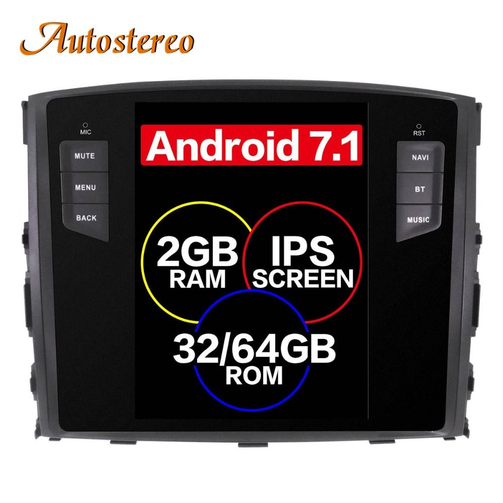Android 7.1 Tesla style Car No DVD Player GPS Navigation For MITSUBISHI PAJERO V97 V93 Shogun Montero 2006+ head unit multimedia