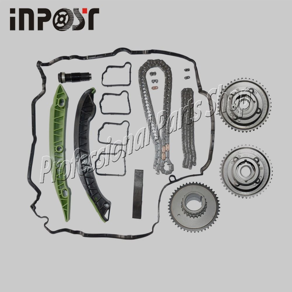Exhaust & Intake Adjuster Actuator Timing Chain Kit Camshaft for MERCEDES M271 W203 W204 E250 C250 SLK250 2710503347 2710503447