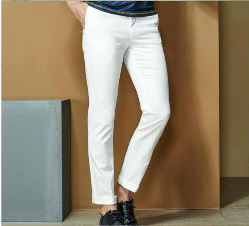 2018  spring and autumn large size stretch straight waist casual men's trousers