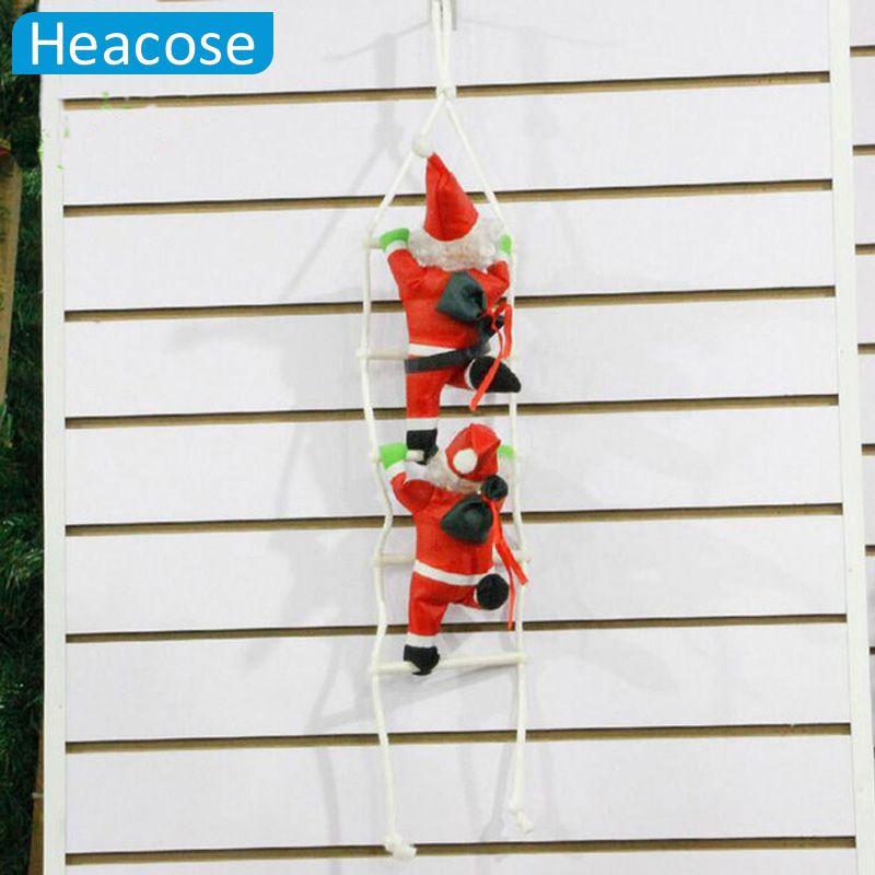 2017 mignon 25 cm De Noël Santa Claus poupée arbre de noël décorations avec stairnatal nouvelle année De Noël décoration pour la maison
