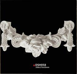 Pu poliuretano chimenea parte decoración estilo europeo techo decoración puerta portal decoración componentes