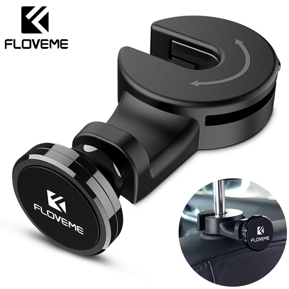 FLOVEME support de téléphone magnétique pour voiture de luxe crochet siège arrière appui-tête universel pour iPhone iPad support de support magnétique support Soporte