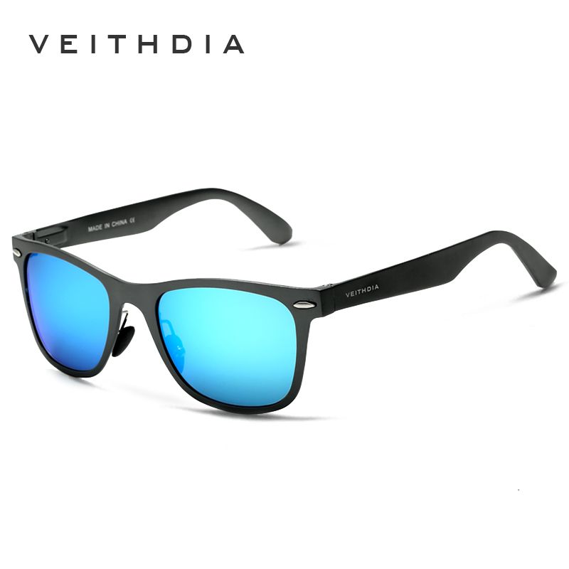 VEITHDIA Aluminum Magnesium Fashion Men's Mirror Sun Glasses Goggle Eyewear Female / Male Accessories Sunglasses For Women/Men