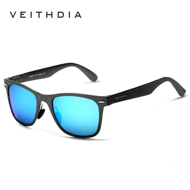 VEITHDIA <font><b>Aluminum</b></font> Magnesium Fashion Men's Mirror Sun Glasses Goggle Eyewear Female / Male Accessories Sunglasses For Women/Men