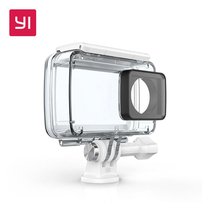YI Waterproof Case For YI <font><b>Lite</b></font>,4K and 4K Plus Action Camera 2 Up to 132 feet (40M) Underwater Sports Swimming Diving YI Official