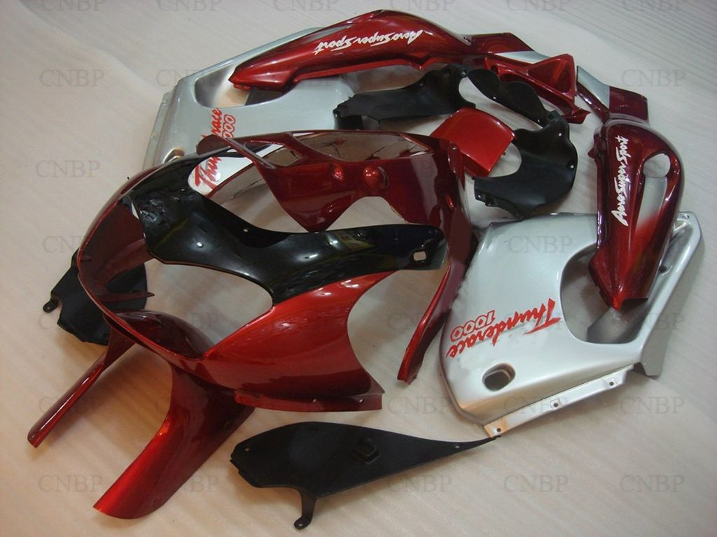 Bodywork Thunderace 04 05 Fairings YZF 1000R 96 97 1997 - 2007 Red Silvery Motorcycle Fairing YZF1000R 00 01