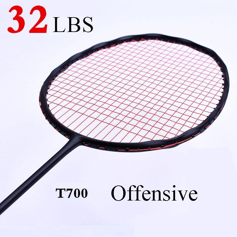 LOKI Kurve Form Geschwindigkeit Zerschlagen Carbon Badminton Schläger Hohe Spannung Offensive männer Badminton Schläger 75g 22-32LBS