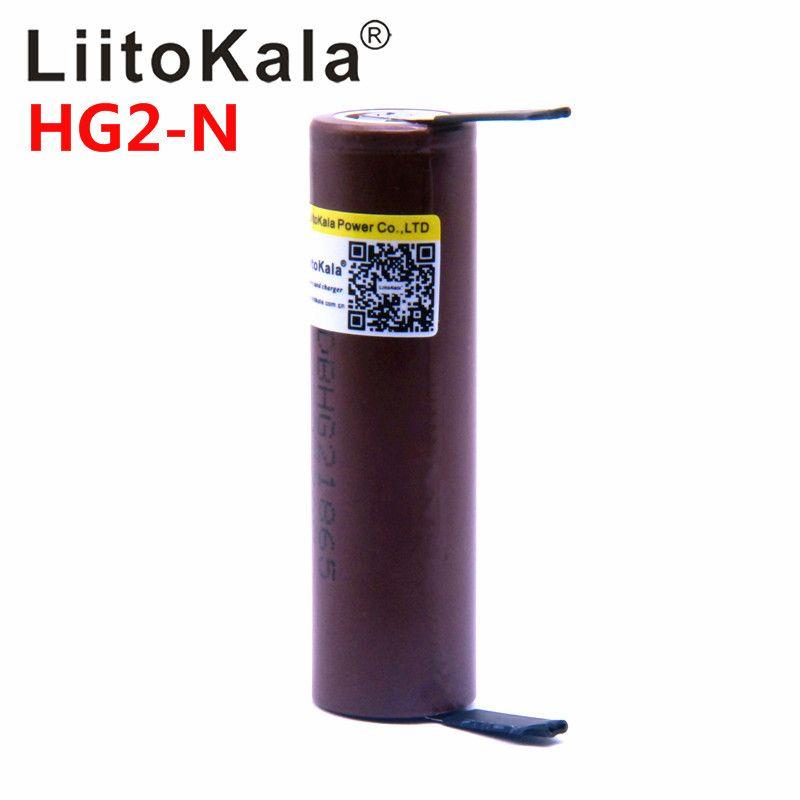 LiitoKala HG2 18650 batterie 3000 mah 3,6 v lithium-kontinuierliche entladung 20A gewidmet elektronische power batterie + DIY nicke