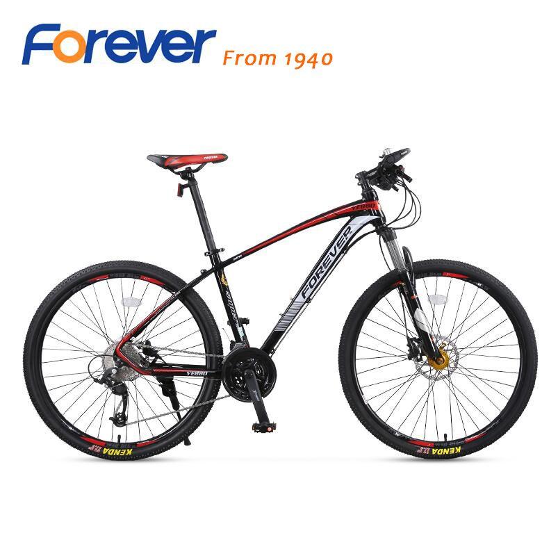 Hohe qualität Für Immer mountainbike 27 geschwindigkeit fahrrad aluminium legierung rahmen stoßdämpfer gabel doppel disc bremsen bicicleta