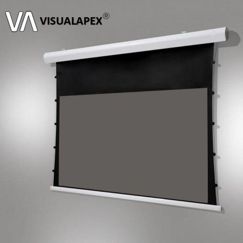 T8ALRU Erweiterte Elektrische Motorisierte Tab-spannung Projektion Bildschirm mit ALR material für ultra-short throw projektoren