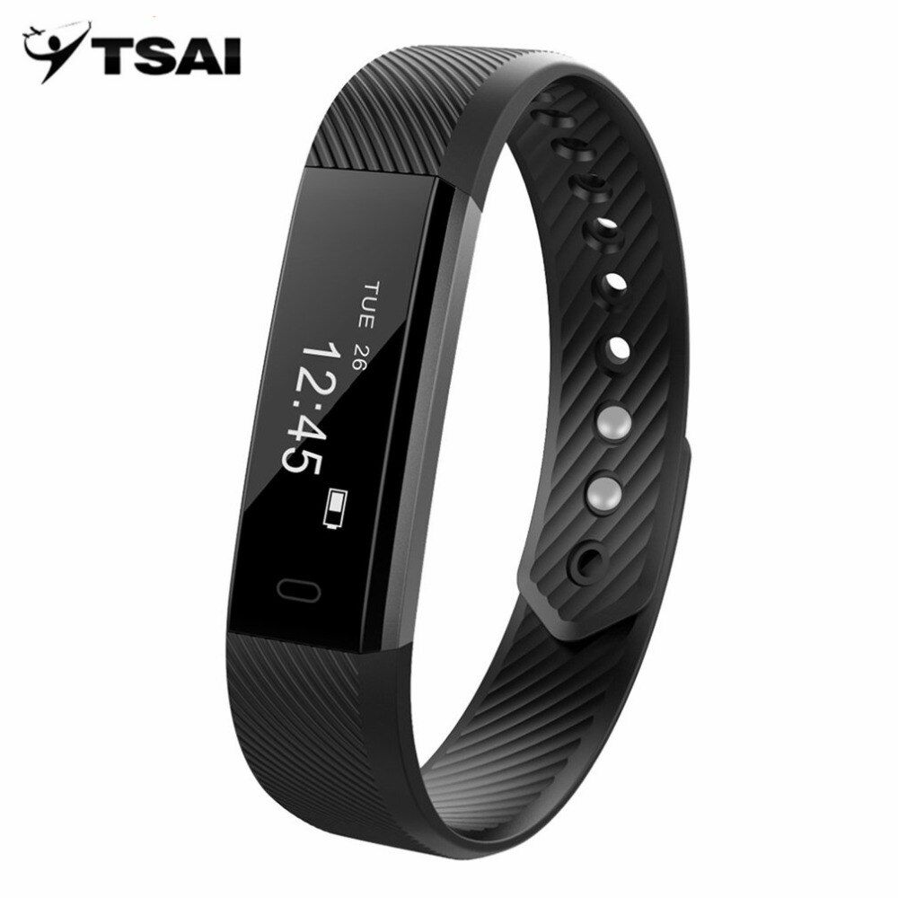 TSAI Smart Schrittzähler Armband Fitness Tracker Passometer Schlaf-monitor Track Smart Band Uhr Wecker Schrittzähler Fitness
