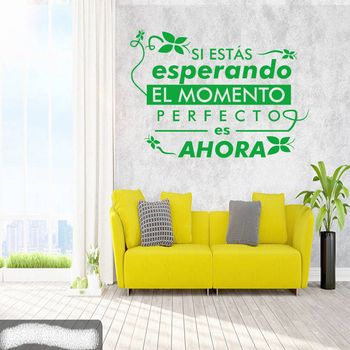 The perfect moment for Spanish quotes is now removable vinyl wall stickers mural wall decals home decor house decoration DW0664