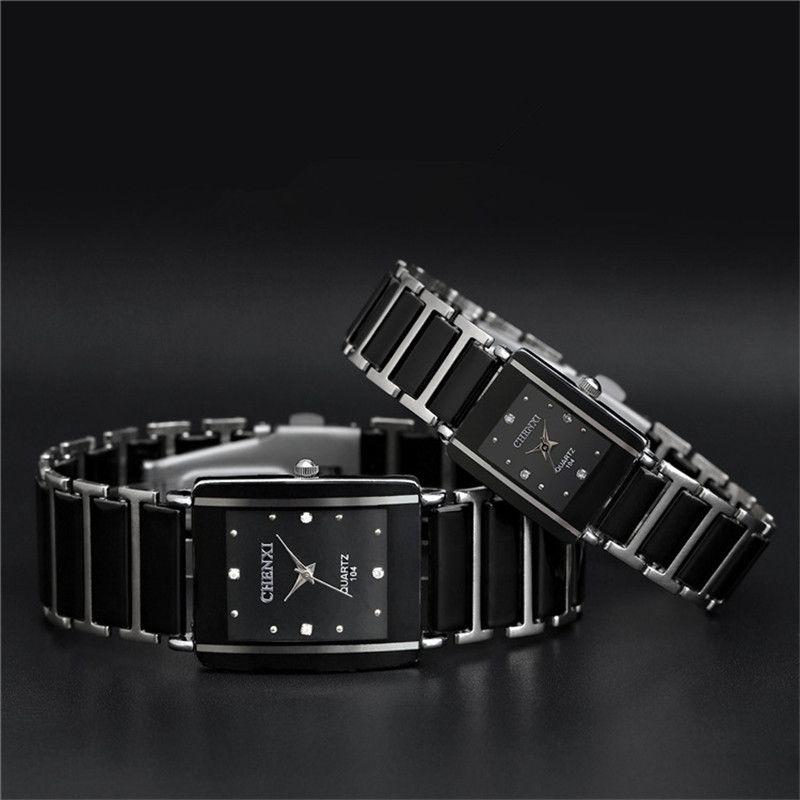 Fashion Men Quartz Steel Watch Couple Wrist Watches Luxury Women Lovers Watches High Quality Stainless Steel Mechanical Watch