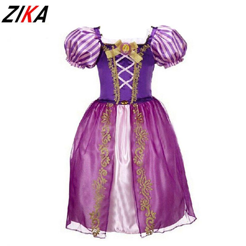 ZIKA Nouvelles Filles Cendrillon Robes Enfants de Neige Blanc Princesse Robes Rapunzel Aurora Partie Halloween Costume Marque enfants Robe