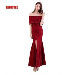 Baru Kedatangan Cantik Renda Gaun Malam Vestido De Festa Panjang Gaun Renda Manik-manik Gaya Pesta Gaun