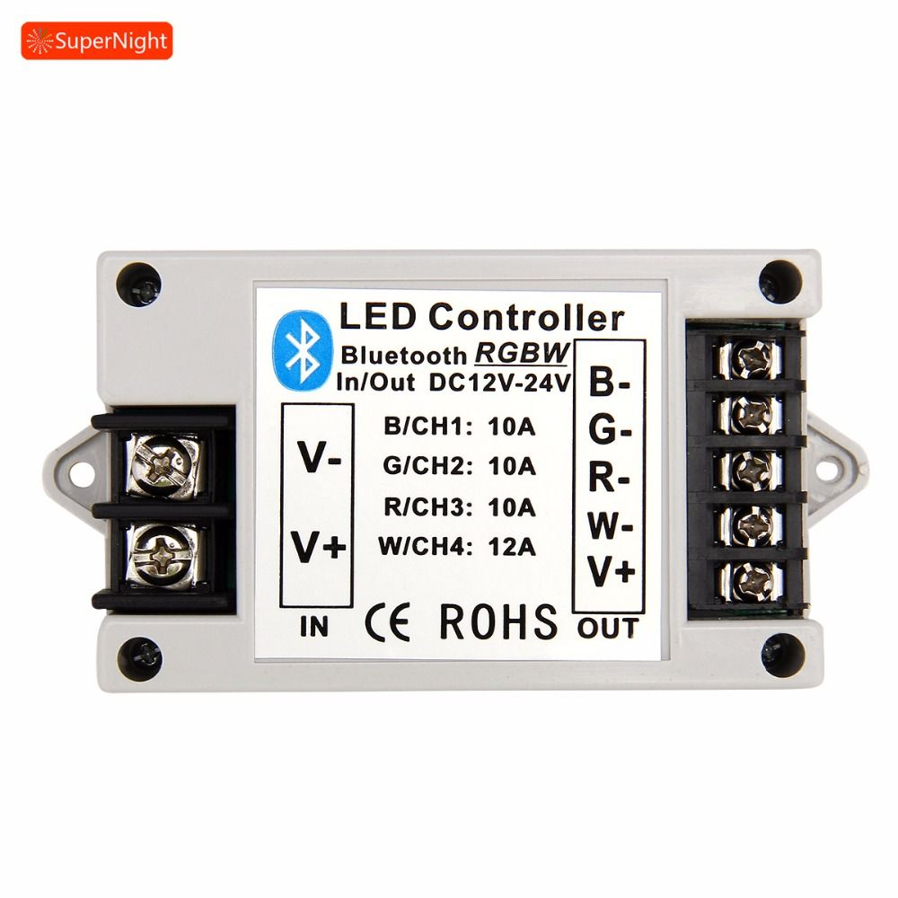 Wireless Bluetooth Music Controller for Flexible RGB RGBW LED Strip Light DC 12V 24V BT Dimmer iOS Adapter for iPhone Samsung