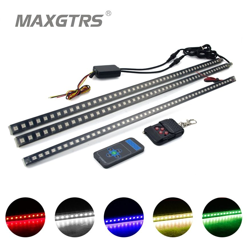 20Modes IP68 Waterproof 56CM 48LED Bar Light 5050 Car LED Knight Rider lights with Infrared Remote LED Strip Scanner Lighting