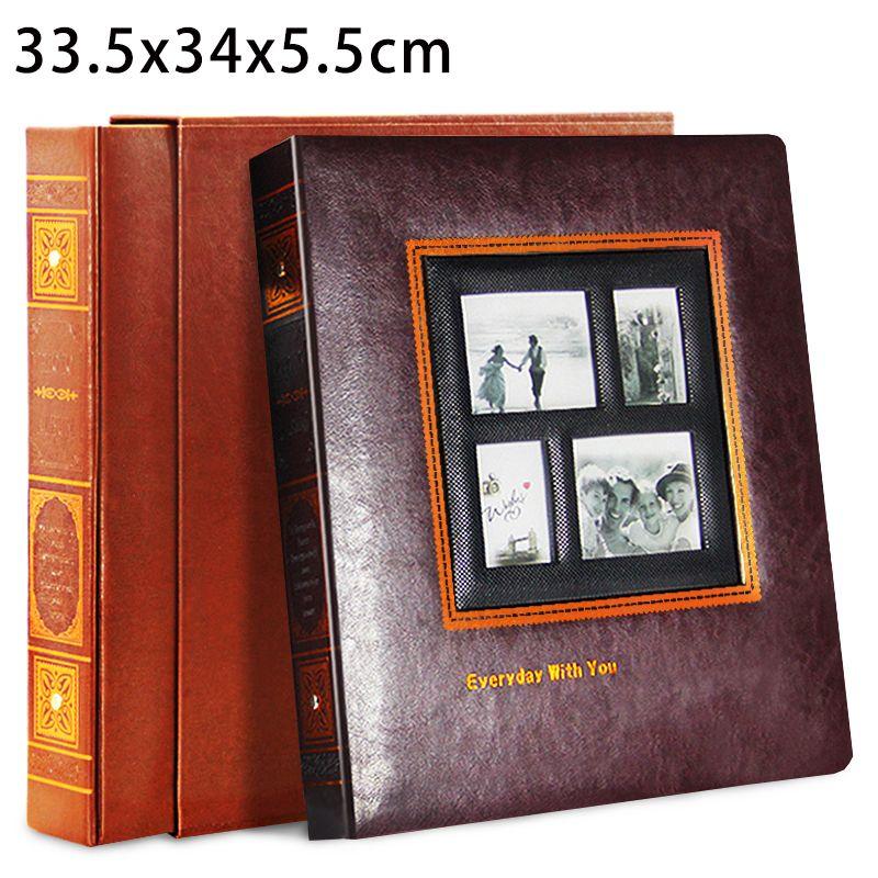 General Photo Album PU Leather Albums Cover Interleaf Type 5 6 7 8 Inch Pictures Scrapbooks Large Volume Retro Photograph Albums
