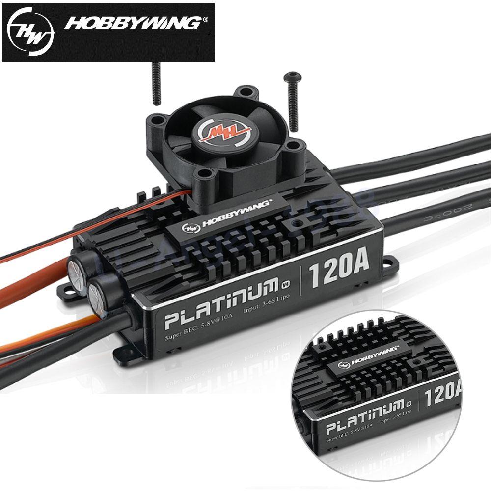 1 stücke Original Hobbywing Platinum Pro V4 120A 3-6 S Lipo BEC Leere Form Brushless REGLER für RC Drone Hubschrauber