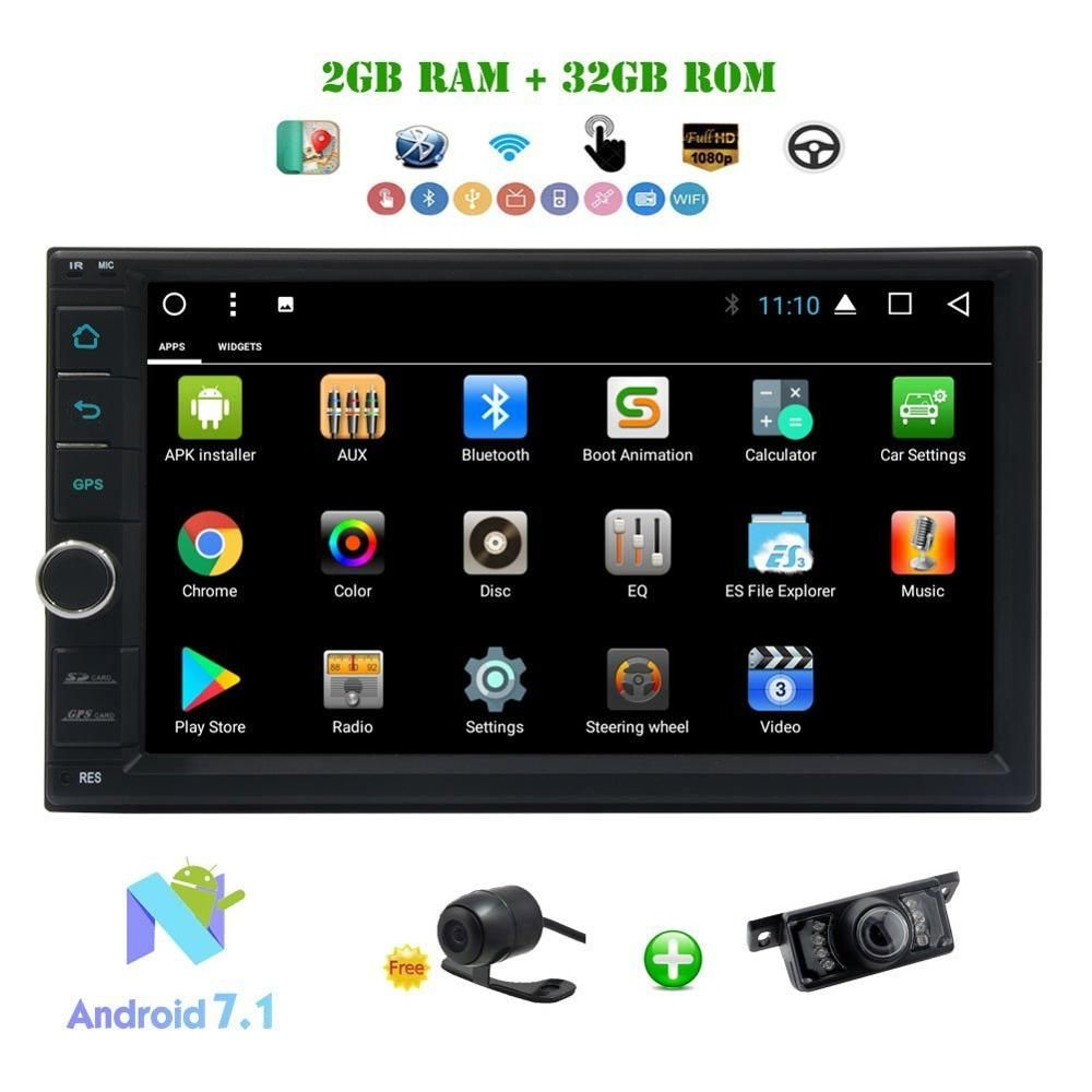 Car Radio 2Din Android 7.1 Car Stereo Octa-core 2GB+32GB 7