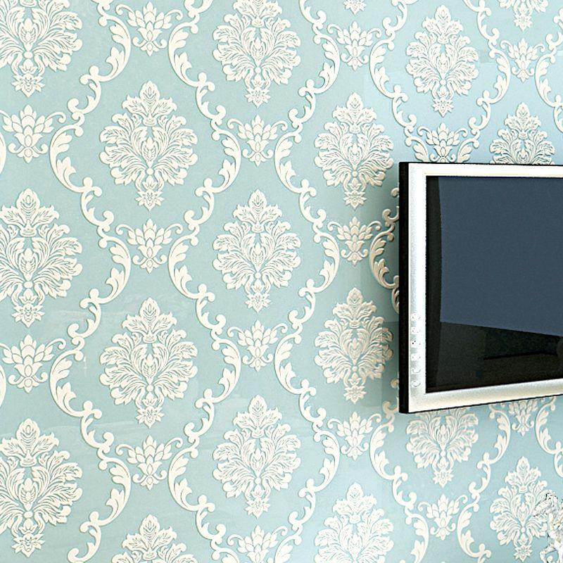 Европейский Стиль 3D тиснением цветочные Роскошные Дамаск обои для Гостиная Спальня ТВ Задний план Desktop обоев для стен
