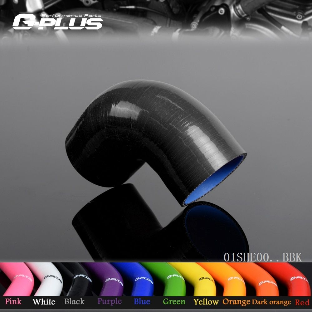 Free Shipping Gplus 80mm 90 Degree Hose Turbo Silicone Elbows Coupler Pipe Hose 3 1/8