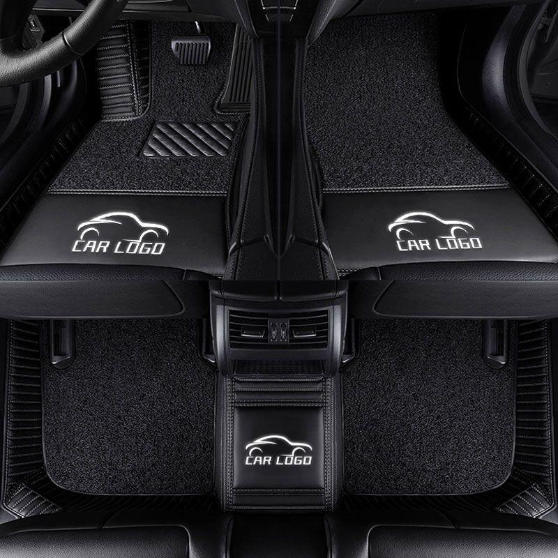 3D Auto fußmatten für Mercedes Benz logo Viano ABCEGSR V W204 W205 E W211 W212 W213 Sclass CLA GLC ML GLA GLE GL GLK Auto-teppich