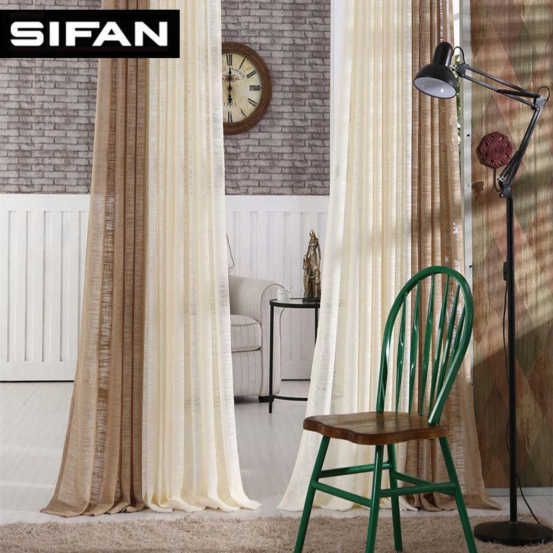 Nouveau japon solide Tulle rideaux pour chambre Tulle fenêtre rideaux pour salon cuisine moderne pure Voile stores rideaux