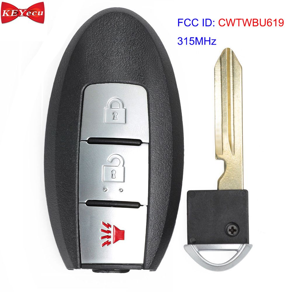 KEYECU für Infiniti FX35 FX45 2005 2006 2007 2008 Smart Remote-Auto Schlüssel Fob 3 Taste 315MHz ID46 Chip FCC: CWTWBU619