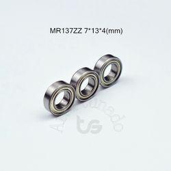 MR137ZZ 7*13*4 (мм) Бесплатная доставка ABEC-5 подшипник из металла запечатанная миниатюра Мини подшипник MR137ZZ хромированная сталь радиальный подшип...