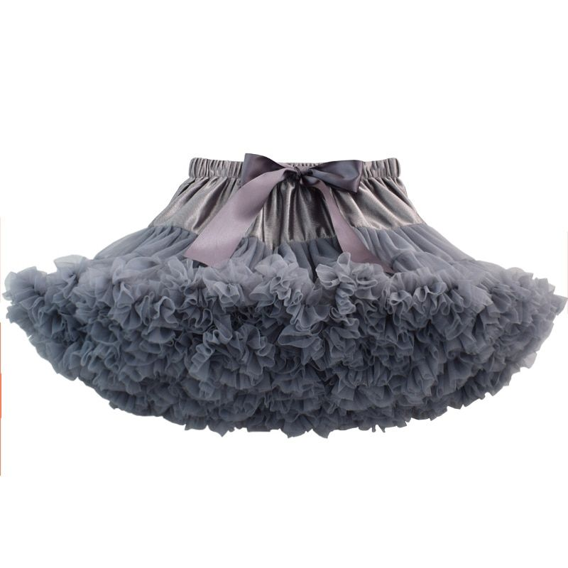 Teenage Girl Fluffy Pettiskirt Solid Layer Skirt Kids <font><b>Stage</b></font> Costumes Children Prom Dance Clothing Tulle Tutu Skirts For 15-16Ys