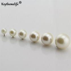 Nouveau 100 pcs Mode DIY Vêtements Accessoires Perle Cap Rivets Artisanat Réparation Perle Tricot Dentelle Chapeau Cheveux Dessus Décor 2B