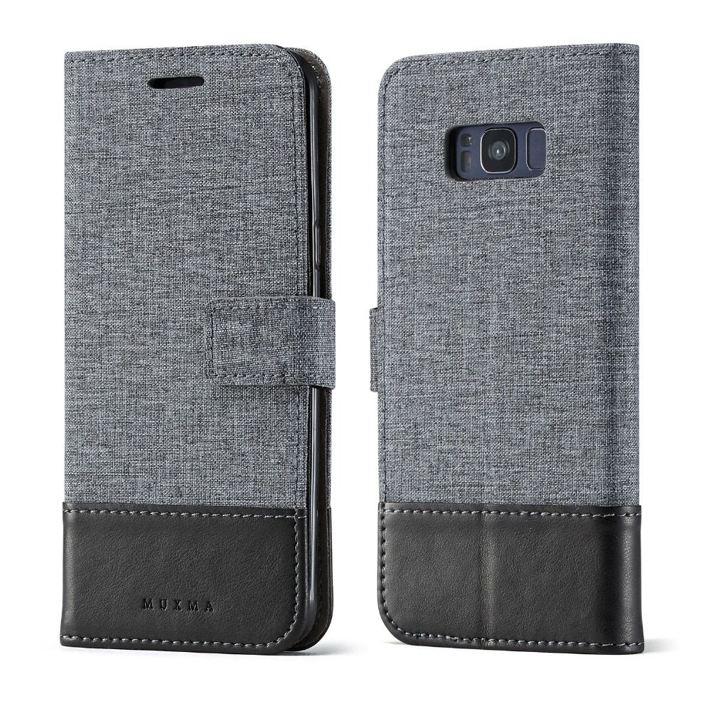 Case For Samsung Galaxy S7/S7 edge/S8/S8 Plus Cover Woven fabric Cloth leather Flip Card Slot Wallet phone Bag case funda coque