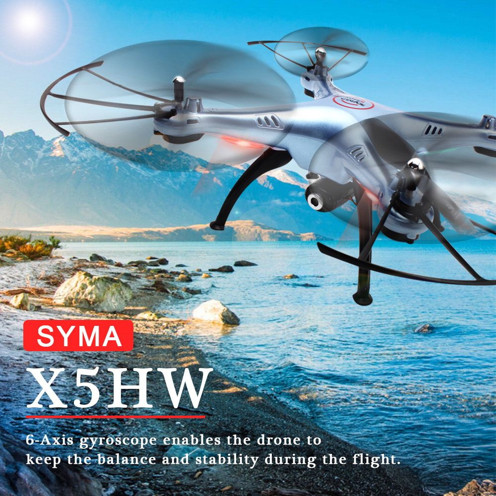 SYMA X5HW 2.4GHz 4CH 6-Axis Aircraft Drone with 0.3MP FPV WIFI Camera Quadcopter 5990 Dec08