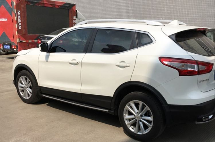 For Nissan Qashqai J11 2014 2015 2016 Silver Roof Rack Side Rails Bars Luggage Carrier Trim  stick down