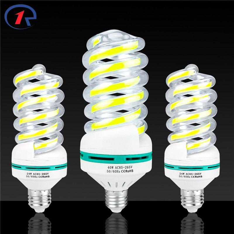 ZjRight E27 COB spirale LED Energiesparlampen bulb 5 Watt 9 Watt 16 Watt 24 Watt 40 Watt Wohnzimmer zimmer, haus, innen, bibliothek, büro, fabrik rohr Lampe