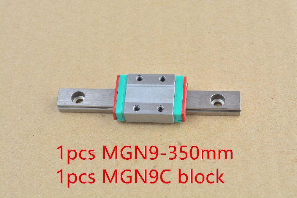 MR9 9mm guide de rail linéaire MGN9 longueur 350mm avec MGN9C ou MGN9H guide de mouvement linéaire miniature voie 1 pièces