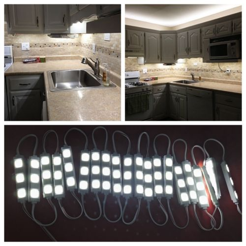 3 M/10ft LED panneaux d'affichage Extérieur intérieur Placard Cuisine Sous Coffret Étanche SMD5050 Lumière Lampe + RF À Distance + 12 V 1A Puissance