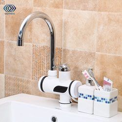 220 V 3000 W calefacción eléctrica instantánea calentador de agua sin tanque digital de temperatura grifo de la cocina/baño grifo