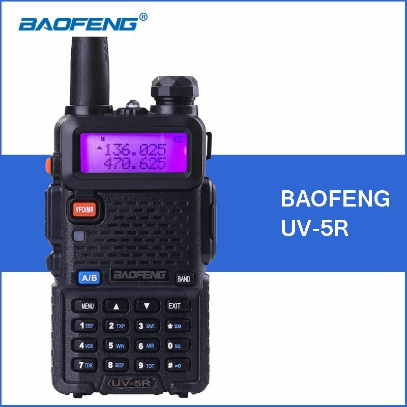 BAOFENG UV-5R Portable Talkie Walkie VHF UHF à Deux Voies Jambon Émetteur-Récepteur Radio UV 5R De Poche UV5R Talkie Walkie 2-Way Communicateur