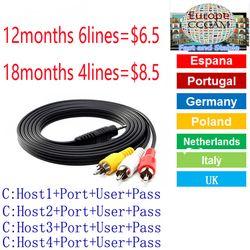HD TV Antena Cccams Clines por satélite receptor DVB-S2 18 meses Europa Clines alta calidad estable antena