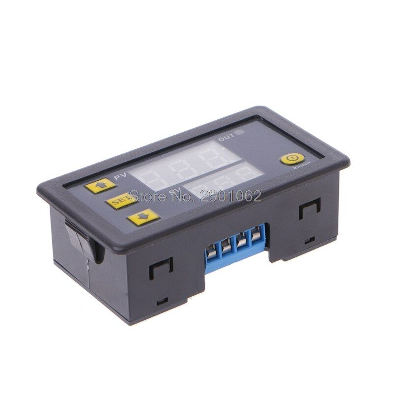 12 V Timing Verzögerung Relaismodul Zykluszeit Timer Digital LED Doppelanzeige 0-999 Minuten #0327 #