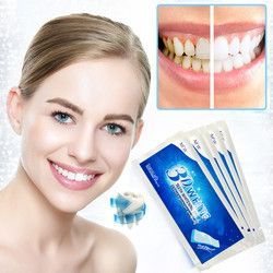 3D Whitening Gel Strips Bright White Dental Treatment Teeth Whitening Strip 5 Pair Teeth Strips Whitening Dental Bleaching Tool