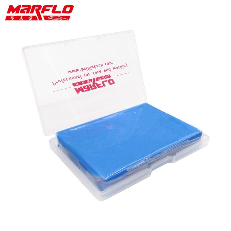 MARFLO 1pc Magic Clay Bar Clean Clay Bar Auto Detailing Cleaner Car Washer Blue 100g