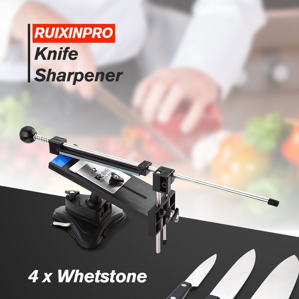 Knife Sharpener Ruixin Pro II All Iron Steel Professional Chef Knife Sharpener Kitchen Sharpening System Fix-angle 4 Whetstone