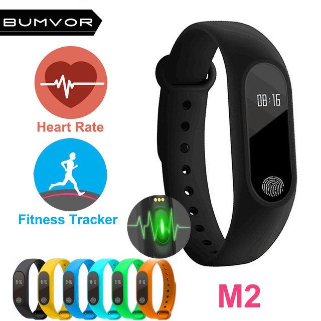 Professional Waterproof IP67 M2 Smart Wristband Fitness Heart Rate Monitor Blood Pressure Pedometer Bluetooth 4.0 Bracelet Watch
